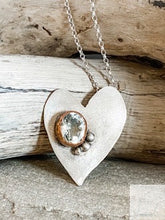 Load image into Gallery viewer, Whimsical Heart - Sterling Silver & Green Amethyst Necklace