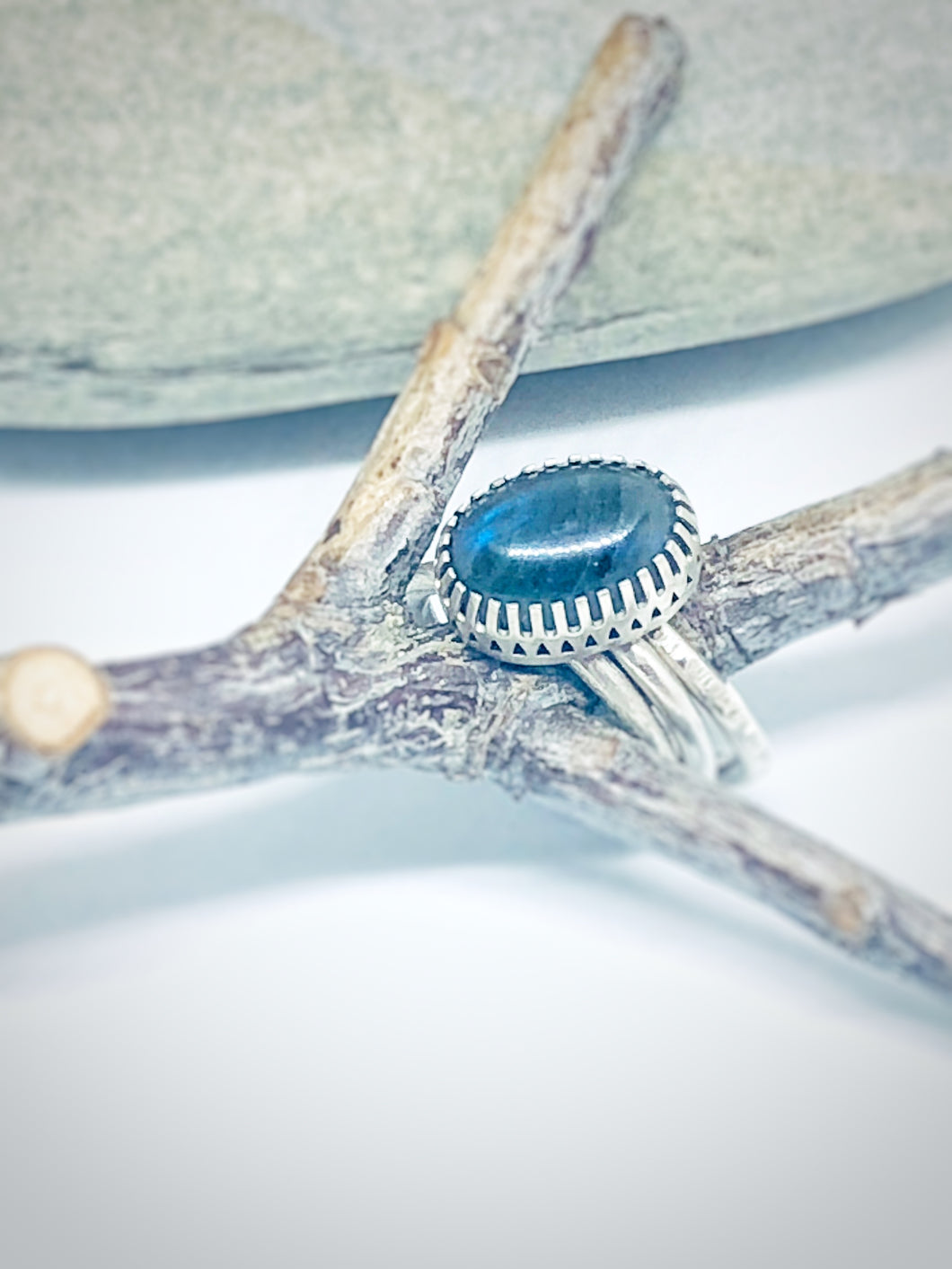 Labradorite Stacking Ring Set