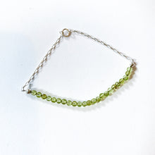 Load image into Gallery viewer, Sterling Silver and Gemstone Chain Bracelet