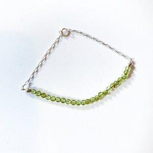 Sterling Silver and Gemstone Chain Bracelet