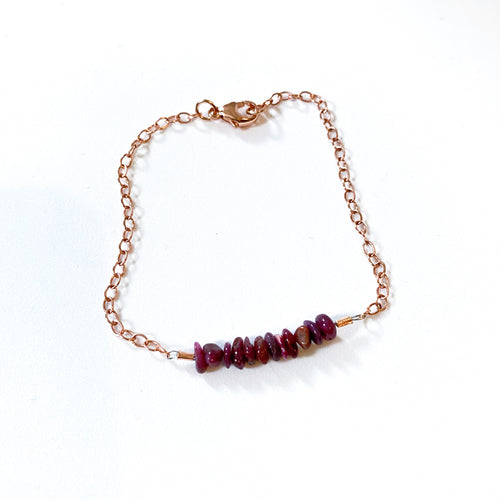 Rose Gold Vermeil and Gemstone Chain Bracelet