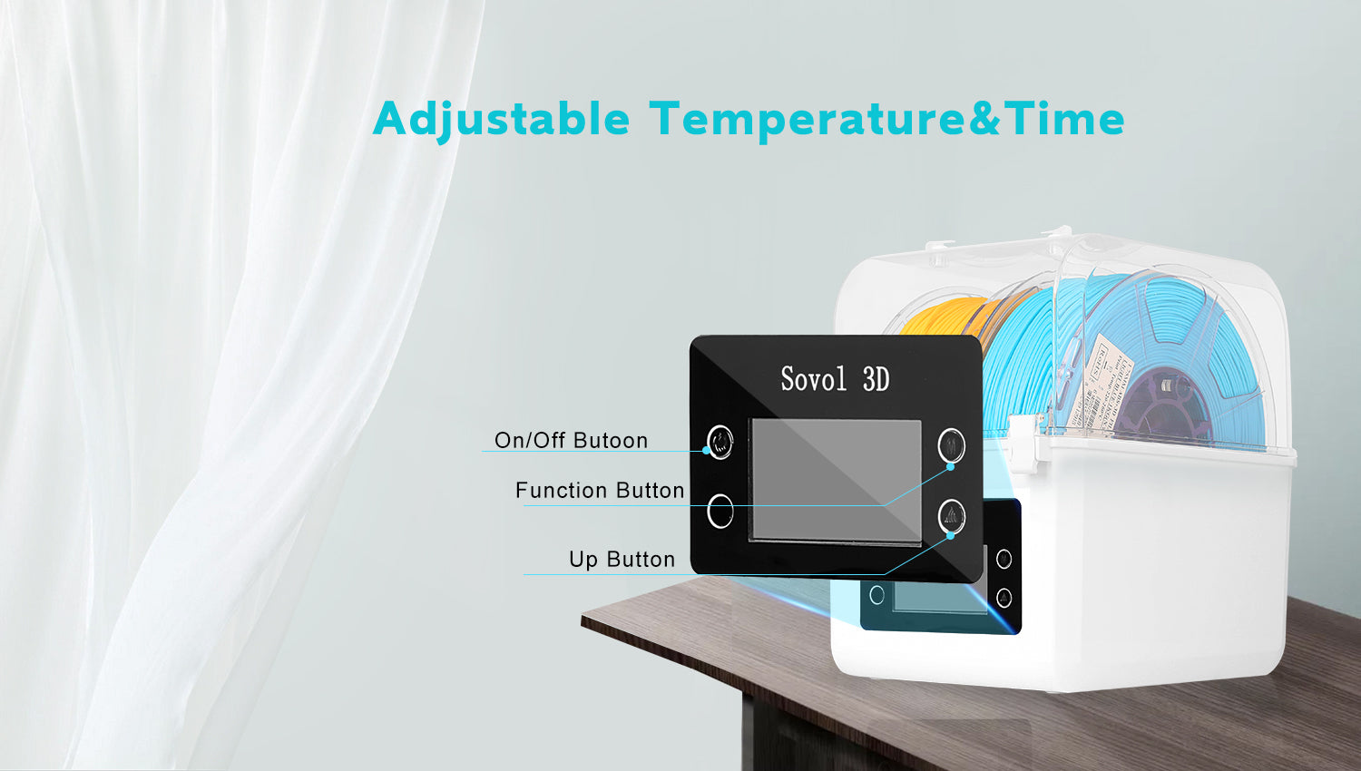 Sovol Filament Dryer Box Supports 2 Spools of Filament Drying &Printing