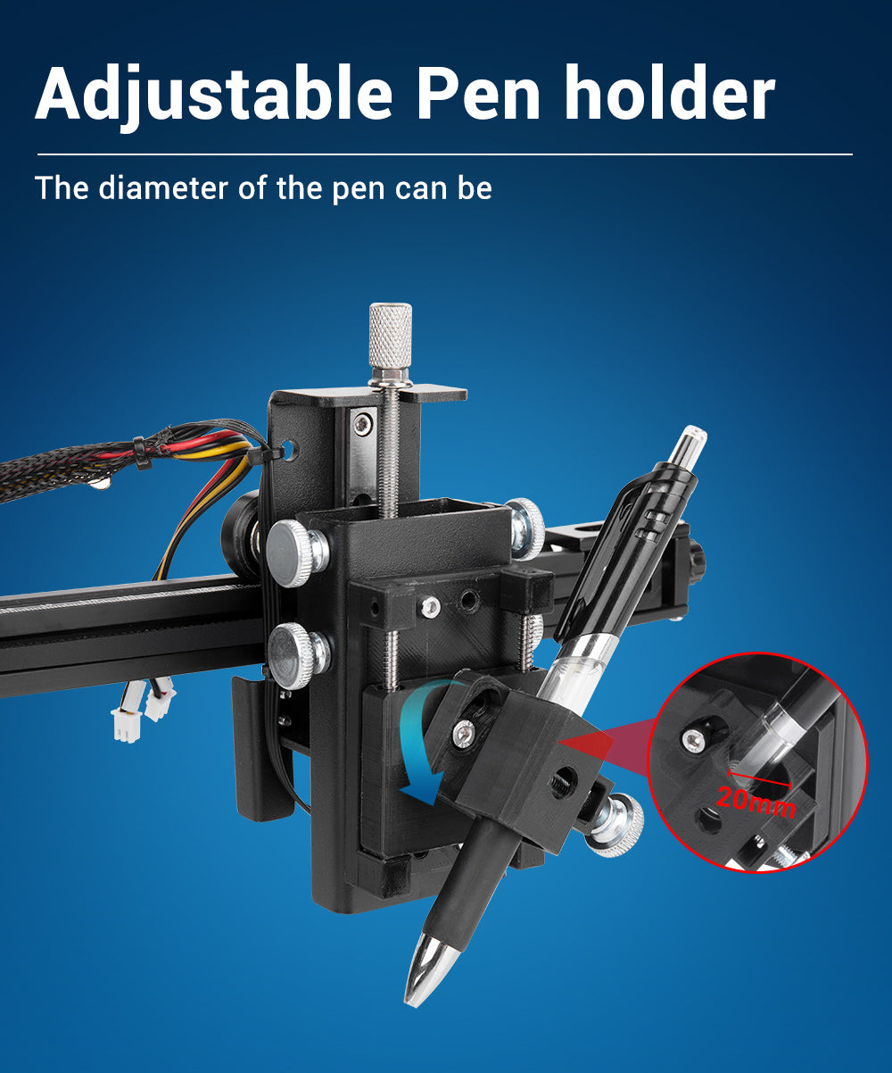 Sovol SO-2 X Y Plotter Pen Plotter, Drawing Robot, the pen is adjustable, so that you can use different paper.