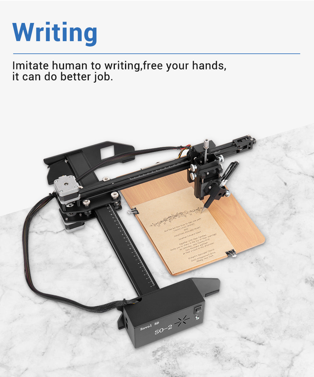 Sovol SO-2 Writing machine online, able to imitate human writing.  Faster writing speed, free your hands.