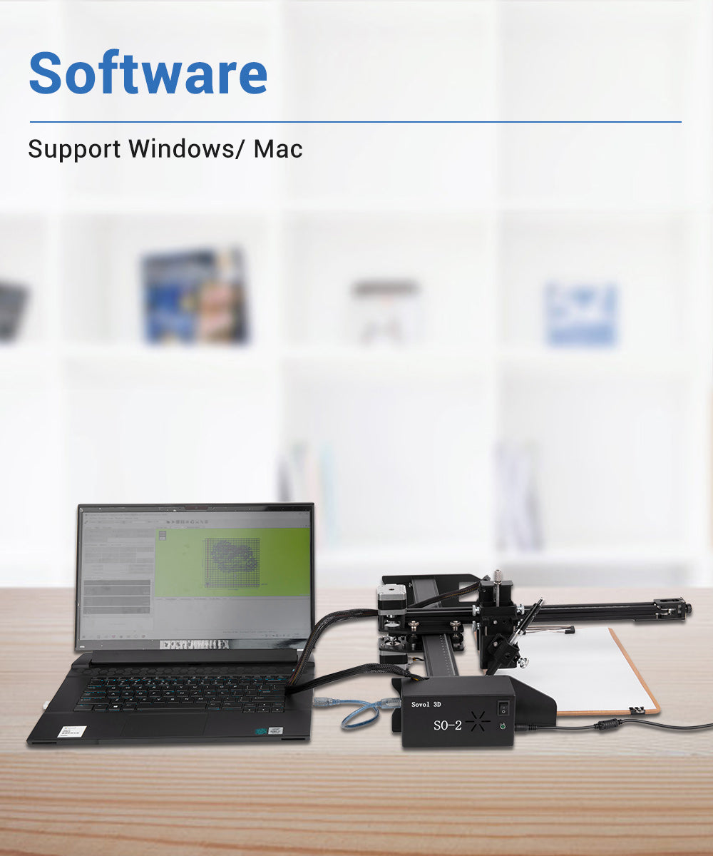 Sovol SO-2 Laser Engrave/Cut/Writing Machine Operition System, support Windows and Mac