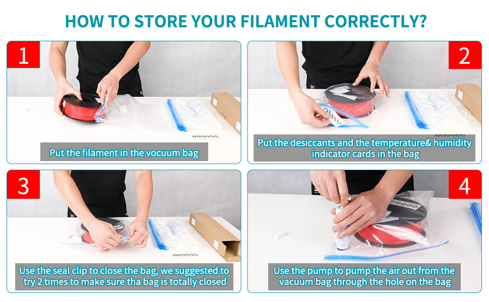How to store 3d printer filament correctly