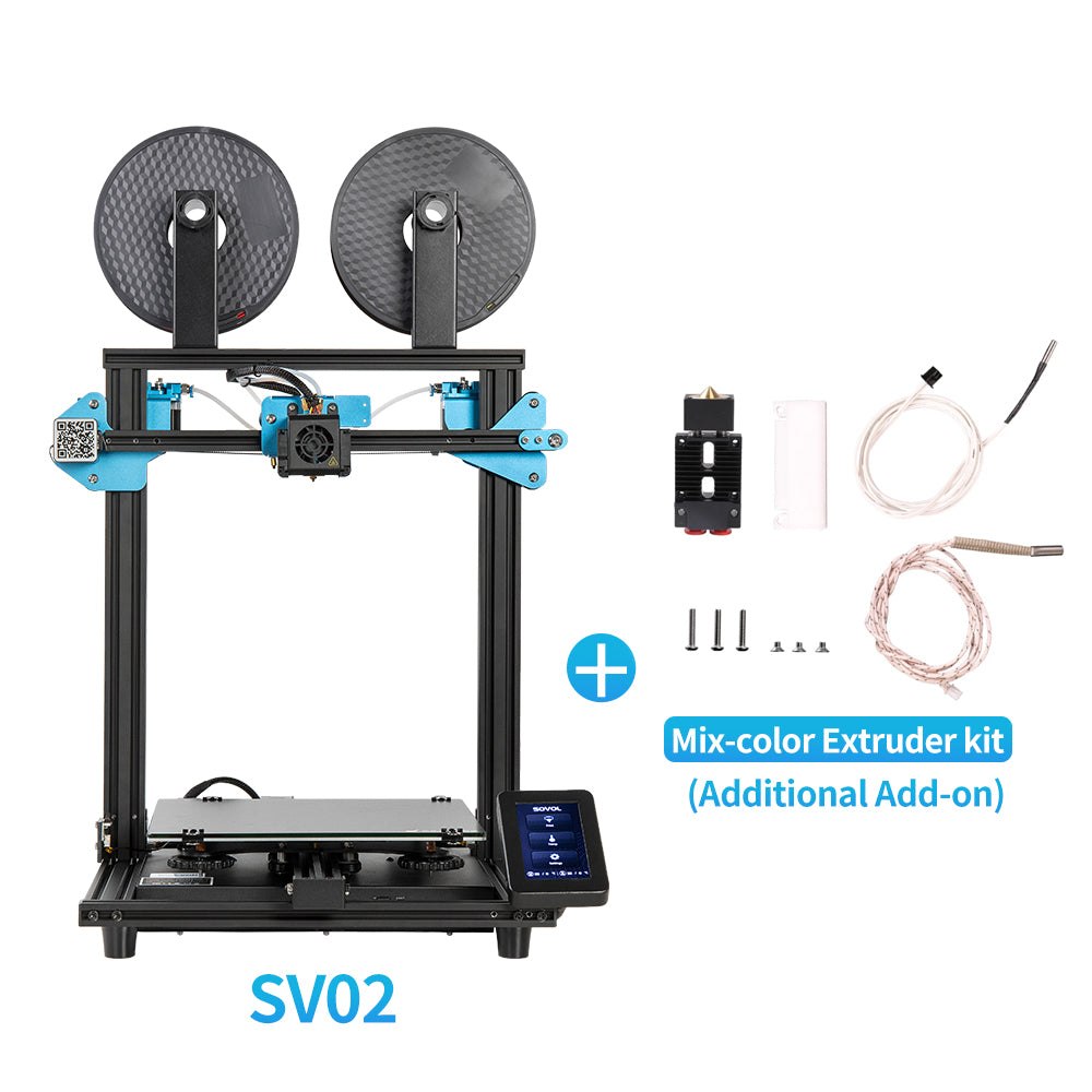 "Sovol SV02 Dual Extruder Bowden Style 3D Printer 11"" x 9.4"" x 11.8"""