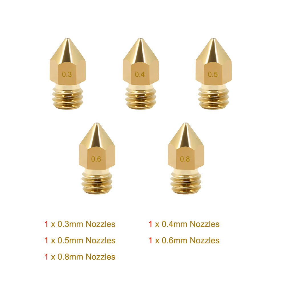 Various Sizes MK8 Extruder Nozzles (Incompatible with SV02)