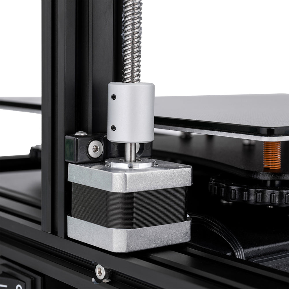 Motor Jaw Shaft Coupler Mounted on 3D Printer