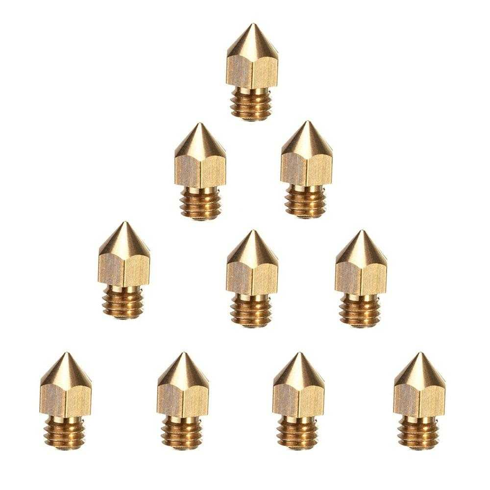 3D Printers Nozzles Mk8 Brass Extruder Nozzles Print Head 5Pcs/lot 0.2/0.3/0.4/0.5/0.6/0.8mm for 1.75mm filament - Sovol3d
