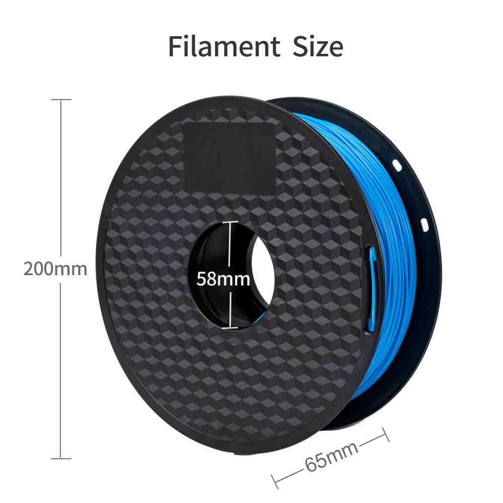 blue color pla filament, 1.75mm filament specification