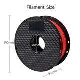 red color pla filament, 1.75mm filament Specification