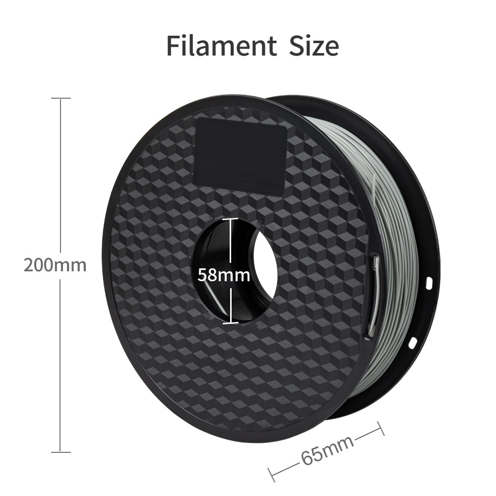Gray color pla filament, 1kg/spool 1.75mm filament