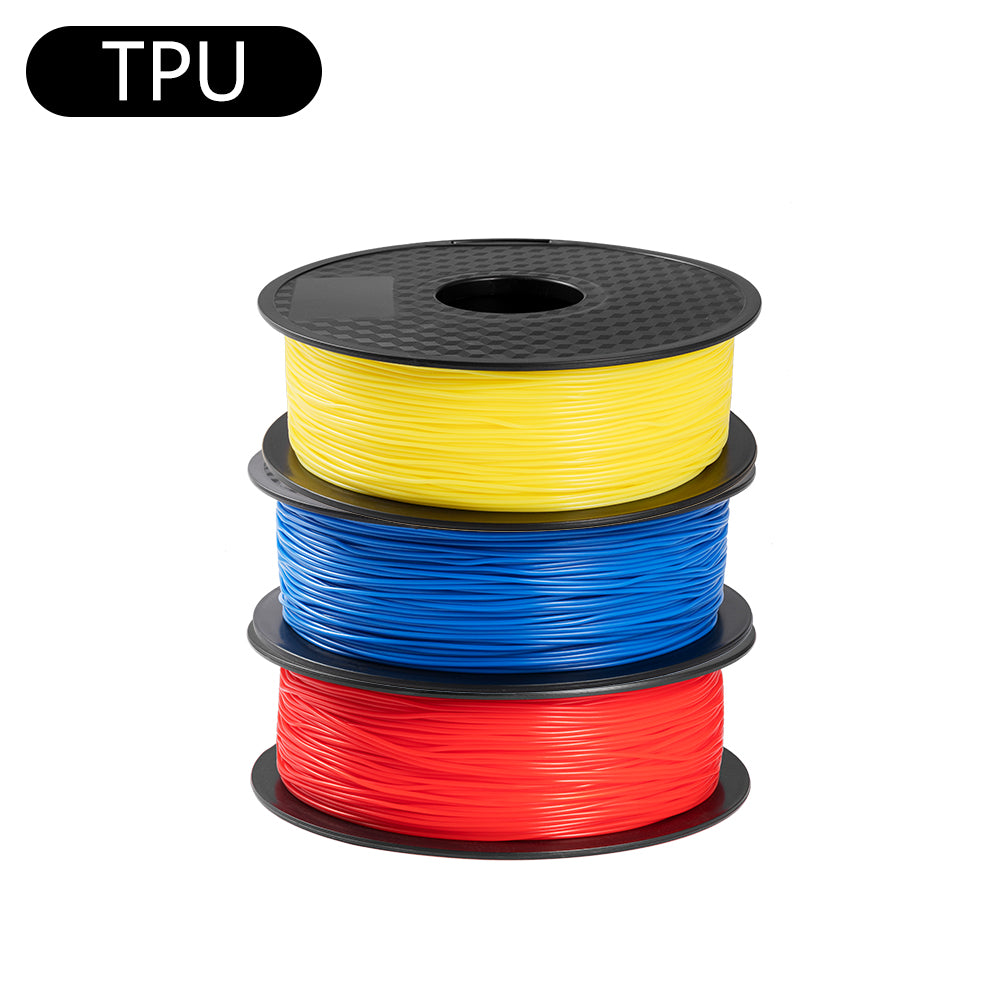 TPU 1.75mm Filament 3 Rolls/Pack Red+Blue+Yellow