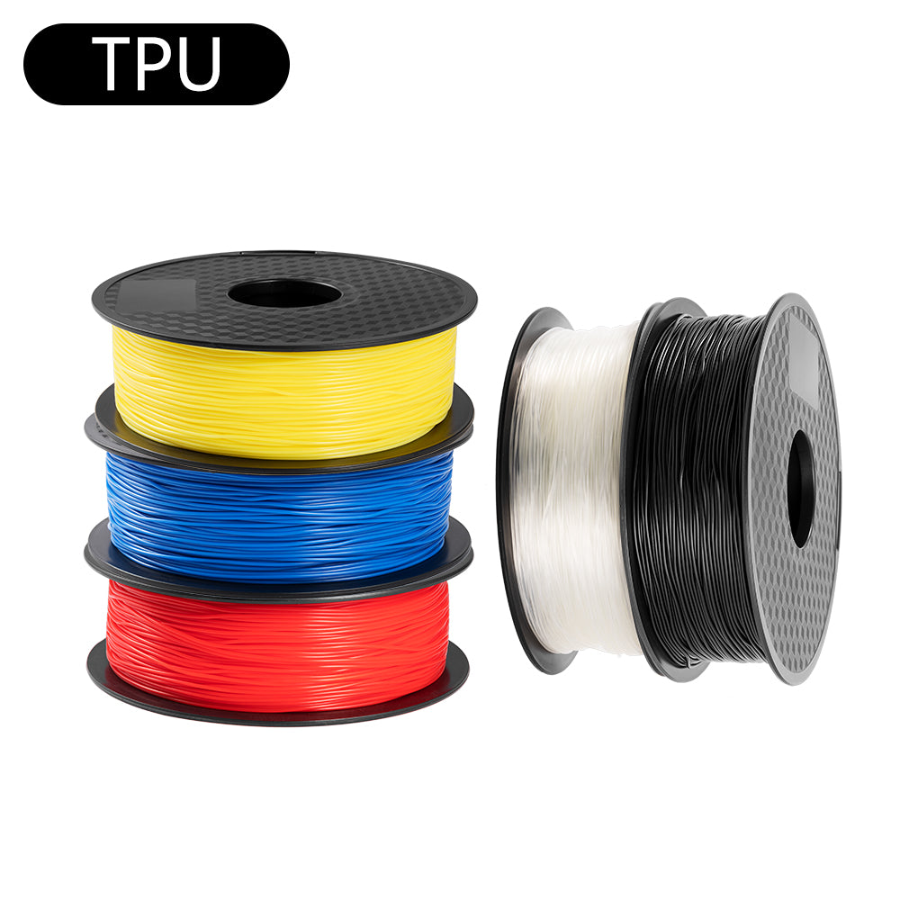 TPU 1.75mm Filament 5 Rolls/Pack Black Transparent Red Blue Yellow