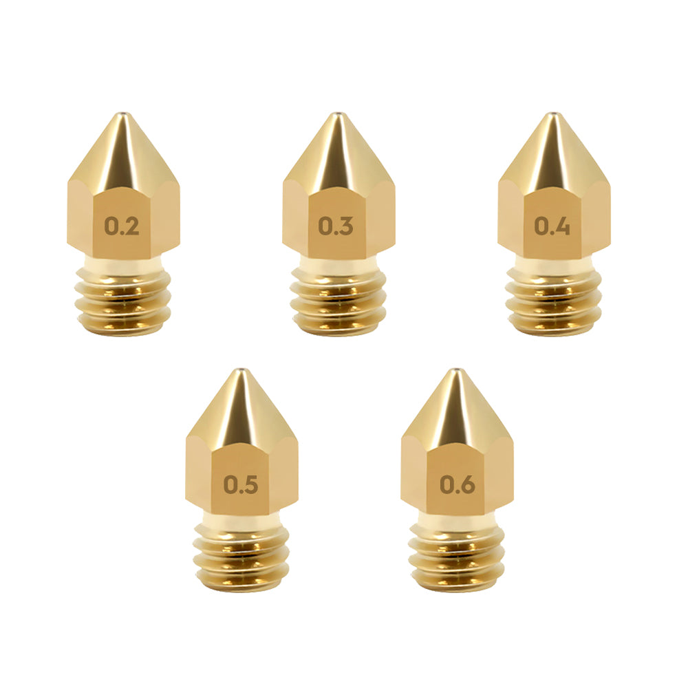 5PACK(Optional) MK8 Extruder Nozzle, 3D Printer Nozzles Brass Print Head Replacement