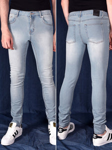 GENDERLESS SLIM WASHED BLUE