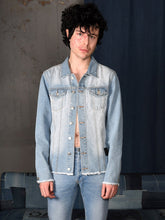 Load image into Gallery viewer, UNISEX DENIM JACKET LIGHT BLUE