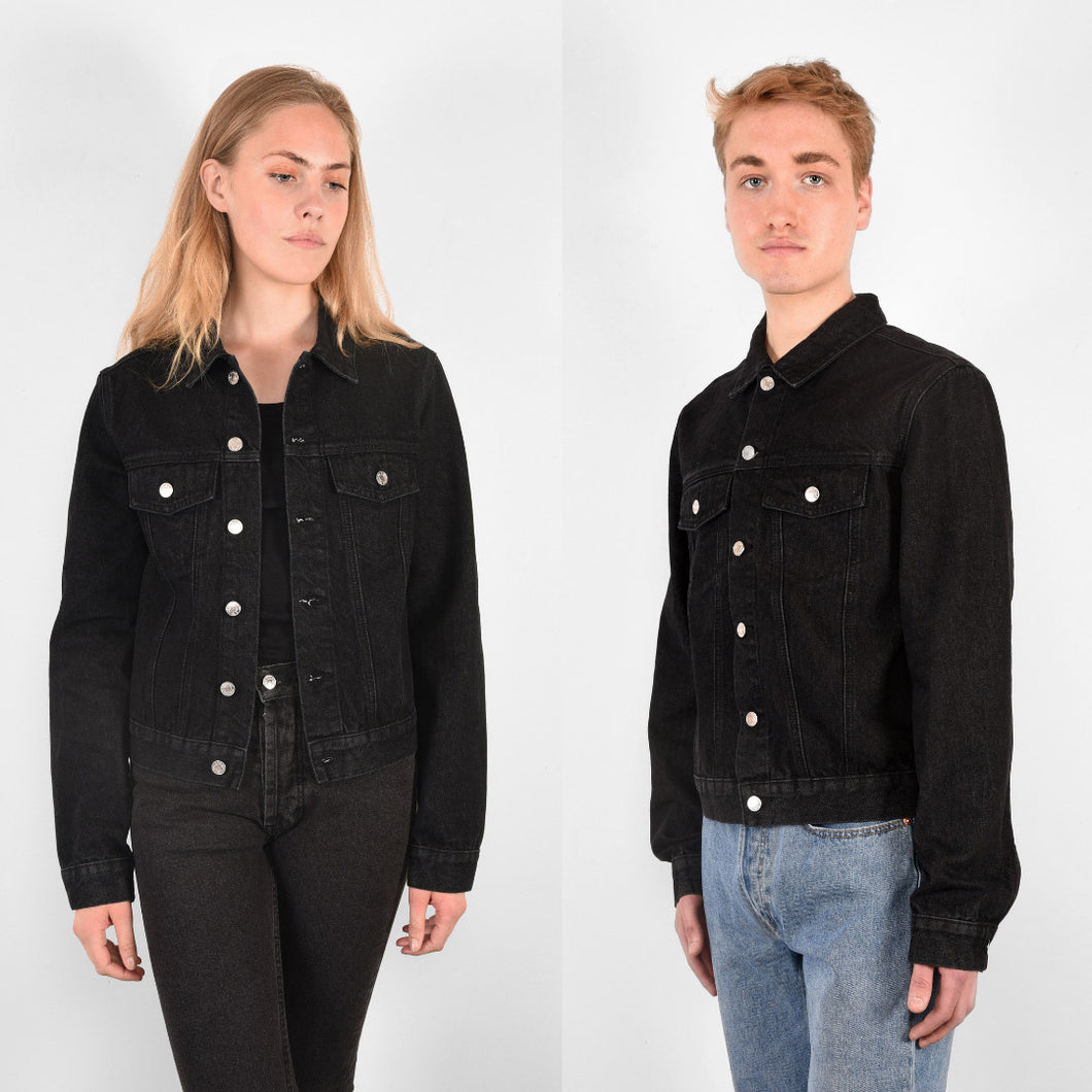 ÖA DENIM JACKET BLACK