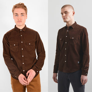 WESTERN SHIRT BROWN CORD