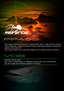 "Attractor Shad Evo 3"" and 5"" by Revenge X"
