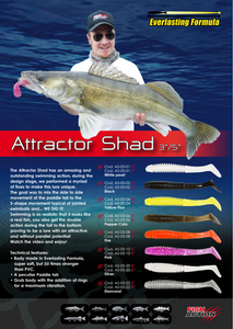 "Attractor Shad 3"" / 5""  by Fish Action"
