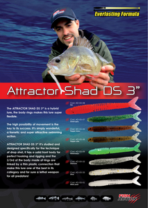 "Attractor Shad DS 3"" by Fish Action"