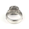 Kreuz Ring Silber Herren Rebeligion