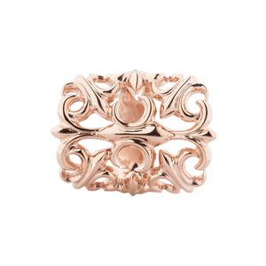 Ornament Charm Rosé Gold für Leder Armband Damen,  - Rebeligion True Silver-Offizieller Shop