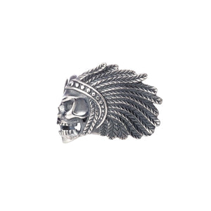 Indian Rider Skull Armband,  - Rebeligion True Silver-Offizieller Shop