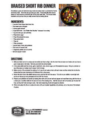 Image for downloadable recipe for braised short ribs with broccoli rabe