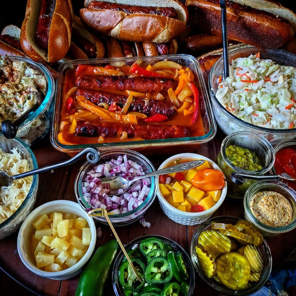 """Build a hot dog """"charcuterie style"""" board from Felton Angus Beef"""