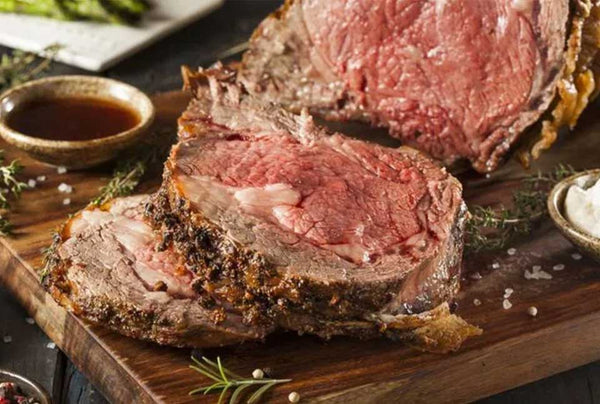 Prime rib roast by the Feathered Nester