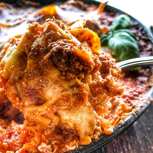 easy one skillet lasagna made with ground beef