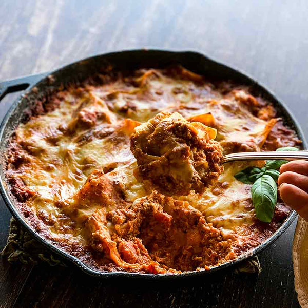 One Skillet Lasagna made with Felton Angus Beef Ground Beef