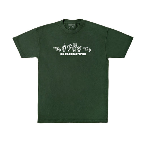 Sign Language Logo T-Shirt (Forest Green)