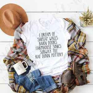 I DREAM OF SHIPLAP WALLS T Shirt