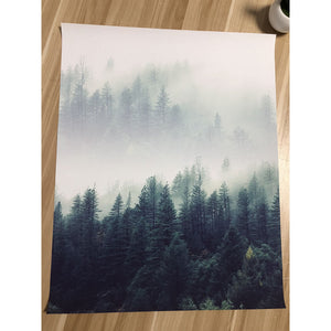 Nordic Forest Landscape Canvas