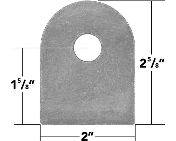 "Weld On Flat Tab 9/16"" Hole (10 Pack)"
