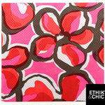 Serviette Célibio motif hawai rouge 40x40cm par 12 - ART DE LA TABLE - Prosalis