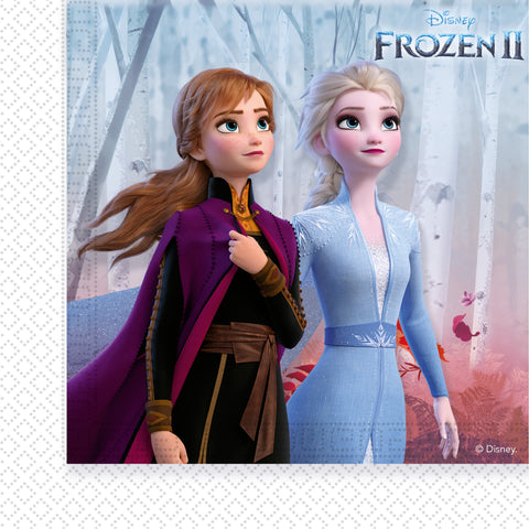 Serviettes Frozen 2-Reine des Neiges 2 par 20 - ART DE LA TABLE - Prosalis