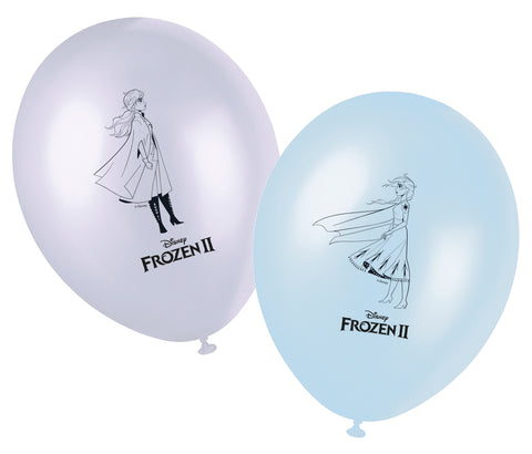 Ballons Frozen 2-Reine des Neiges 2 par 8 - ART DE LA TABLE - Prosalis