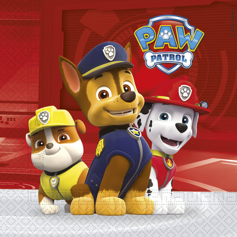 Serviettes Paw Patrol 33x33 par 20 - ART DE LA TABLE - Prosalis