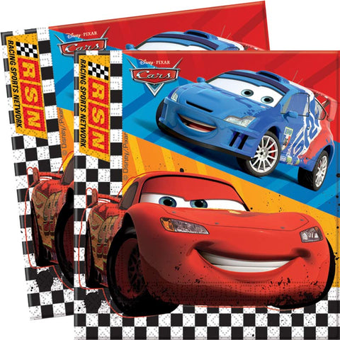 Serviettes Cars - 33x33cm par 20 - ART DE LA TABLE - Prosalis