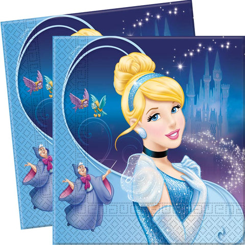 Serviettes Cendrillon - 33x33cm par 20 - ART DE LA TABLE - Prosalis