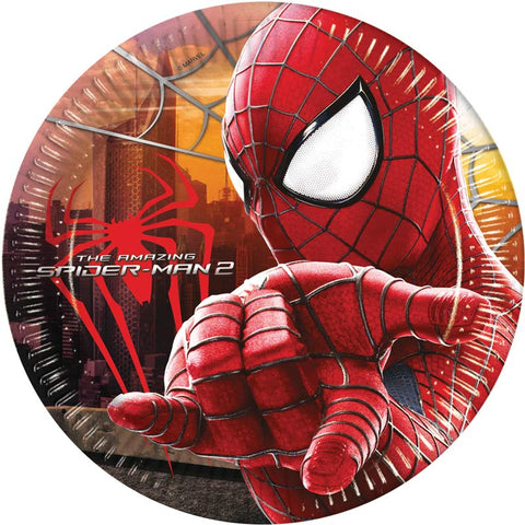 8 assiettes jetables Spiderman 2 - Ø23cm - ART DE LA TABLE - Prosalis