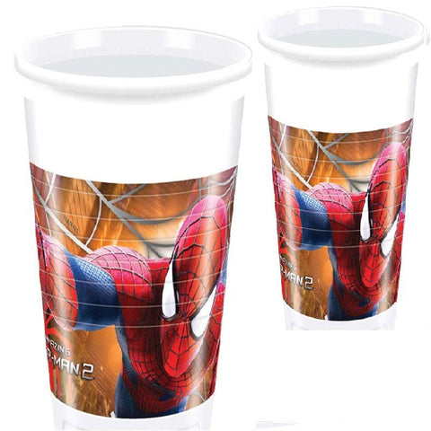 8 gobelets Amazing Spiderman 2 - 20 cl - ART DE LA TABLE - Prosalis