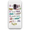 1D Lyrics Samsung Galaxy S9 Plus Case | Casescraft