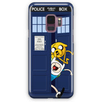 Adventure Time Jake Finn In Dr Who Tardis Call Box Samsung Galaxy S9 Plus Case | Casescraft