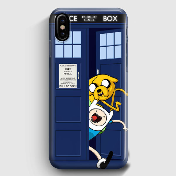 wholesale dealer 4c164 ca120 Adventure Time Jake Finn In Dr Who Tardis Call Box iPhone X Case |  Casescraft